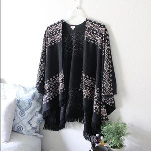 Mossimo | Black Ethnic Detailed Poncho